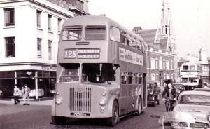 Götumynd frá Birmingham um 1950